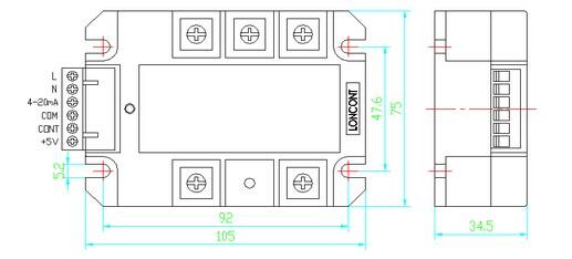 1、JG-系列三相整流固态调压器采用进口大规模集成电路设计,内部集三相过零检测电路、移相控制电路、触发驱动电路、六路单向可控硅组成的全桥、RC阻容吸收回路及电源电路等于一体,在自动或手动调节的输入控制作用下,产生三相可改变导通角的强触发脉冲信号再去分别控制内部可控硅,实现三相交流电直接转换成幅值无级可调的脉动直流电压,负载上的电压从0V到电网全电压的全范围调节。模块典型应用于各种电源、稳压、直流电机、励磁、电焊、电镀、充电等场合。